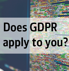 DON'T SCRAMBLE TO COMPLY WITH GDPR